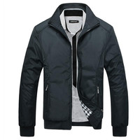 Jacket Men Overcoat Casual bomber Jackets Mens Outwear Wind breaker coat jaqueta home clothing