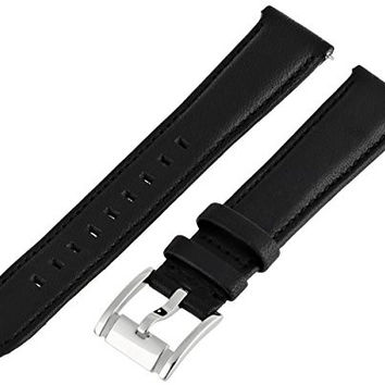 Fossil Women's S181049 Heirloom Leather 18mm Watch Strap - Black