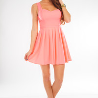This Heart Of Mine Dress: Light Neon Pink