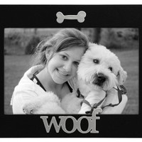 Malden Black Wood Expression Picture Frame, Woof, 4 by 6-Inch