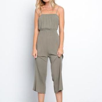 Cropped Gauze Jumpsuit