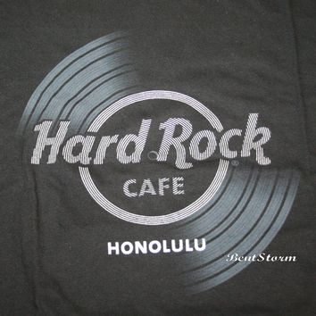 Licensed cool 2018 HARD ROCK CAFE HONOLULU HAWAII Record Album LP BLACK T-SHIRT TEE Men's S-2X