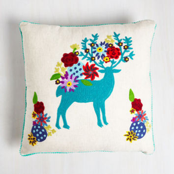 Dorm Decor Deer And Now Pillow Size NS by Karma Living from ModCloth