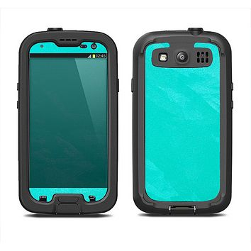 The Subtle Neon Turquoise Surface Samsung Galaxy S4 LifeProof Fre Case Skin Set