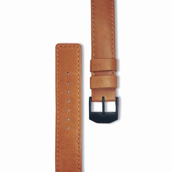 Genuine leather and stainless steel watch bands