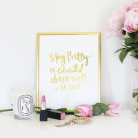 Daily Reminders Gold Foil Print 8x10 inches