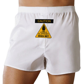 Slippery When Wet Front Print Boxer Shorts