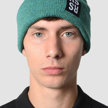 RAF SIMONS Logo Patch Green Beanie
