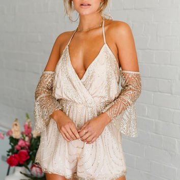 Golden Girl Playsuit Champagne