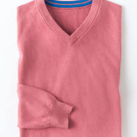 Cotton Cashmere V-Neck