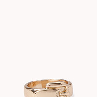 FOREVER 21 Classic Belt Ring Gold 6