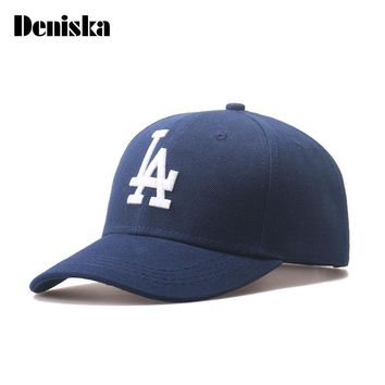 DENISKA Baseball Caps Letter LA Embroidery Hip Hop Outdoor Sports bone Snapback Hats for Men Women Adjustable  gorro masculino