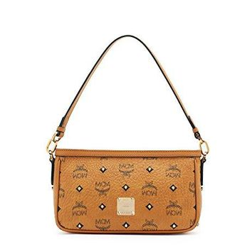 MCM Womens Gold Visetos Shoulder/Crossbody
