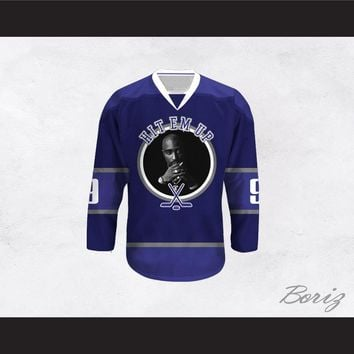 Tupac Shakur 9 Hit Em Up Hockey Jersey Design 4