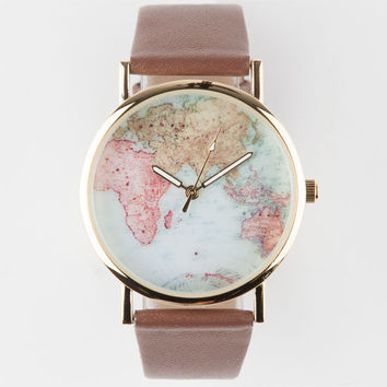 Maps Watch Brown One Size For Women 26080340001