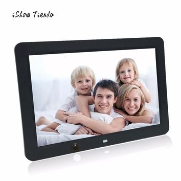12-inch High-definition Ultra-thin With Motion Sensor Digital Photo Frame MP3 Video Player With 8G SD Card Bedroom Table Decor