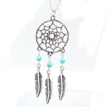 Dream Catcher Pendant With Chain Necklace