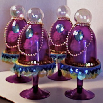ARABIAN NIGHTS....(set of 4)  belly dancer mini cupcake stands