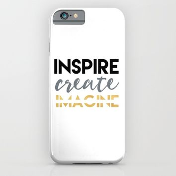 INSPIRE CREATE IMAGINE iPhone & iPod Case by deificus Art