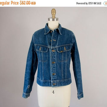 SALE Vintage LEE Riders Denim Jacket. Made in USA (S)