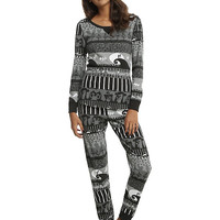 The Nightmare Before Christmas Fair Isle Girls Thermal Sleep Set