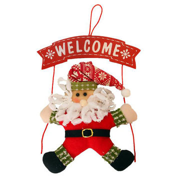 Santa Christmas Wreath Christmas Hang on door Party Home Decor NEW