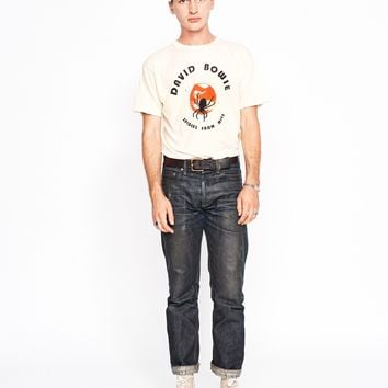 David Bowie Spiders From Mars Men's Crew - Summer Melon