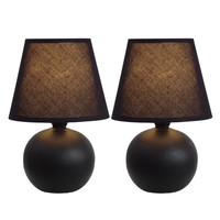 """All the Rages Simple Designs 8.78"""" Table Lamps (Set of 2) (Set of 2)"""