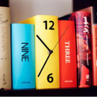 Retro Personality Book Clock Bracket Clock