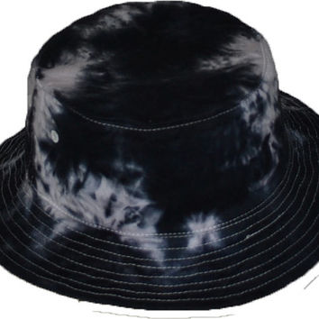 Tie-Dye Bucket Hat Black White (onesize 22.5 inch id)