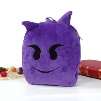 ICIKU7Q Cute Emoji Emoticon Shoulder School Bag Backpack