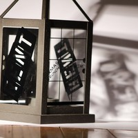 Rent Decorated Glass And Metal Lantern