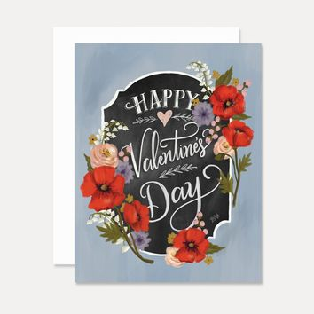 Happy Valentine's Day - A2 Note Card