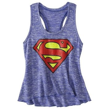 Juniors Superman Graphic Tank - Blue XS