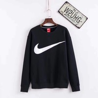 NIKE Woman Men Fashion Round Neck Top Sweater Pullover