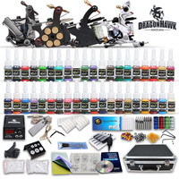 Tattoo Kit 4 Top Machine Gun 40 Color Ink Power Supply Needle Complete US seller V14