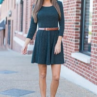 Turn To Travel Dress, Forest Green