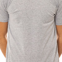 The Plain V-Neck Tee w/ Mustache Tag in Heather Gray