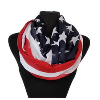 """""""American Pride"""" Red White and Blue Flag Infinity Scarf"""