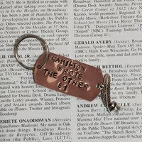 Hamilton The Musical Non Stop Stamped Charm Keychain