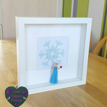 Elsa, Figure, frame, anna, olaf, Sisters gifts, frozen, picture, DISPLAY,  Girls Birthday,  Christmas, Unique gifts, Special friend,