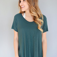 Alpine Side Slit Tee Teal