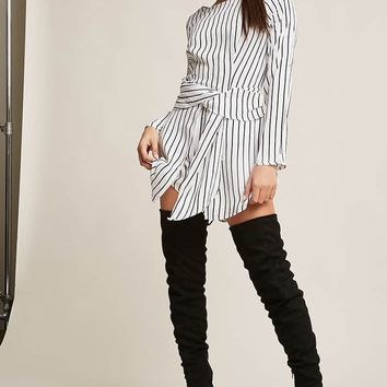 Stripe Twist-Front Romper