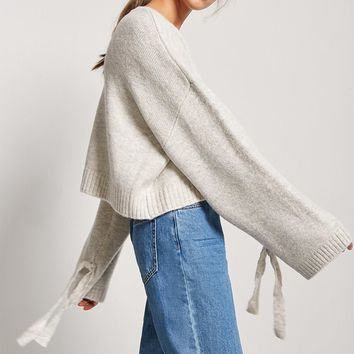 Oversized Brushed Knit Sweater