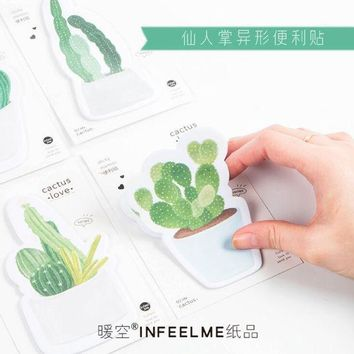 DCCKU7Q 30 pages Cactus  Memo Pad Sticky Notes