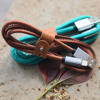 Cute Leather Lightning Cable for iPhone se 5s 6s 6 plus + Gift Box 17