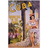 Cuba Holiday Isle of the Tropics Poster 24x36