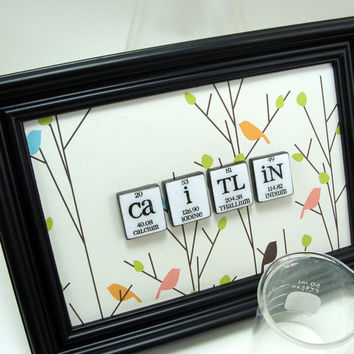 Chemistry PErSONAl ized Name Signs 4 Tiles by ShopGibberish
