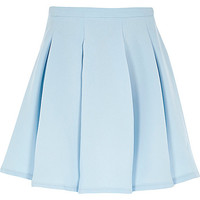 River Island Girls light blue pleated skirt