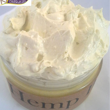 Hemp Butter for Hair & Body With organic hemp seed oil.  Protein-rich twisting and moisture sealing butter.